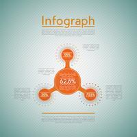 Eenvoudige infographics, vectorillustratie vector