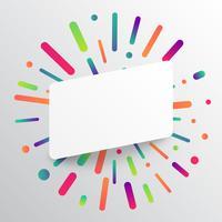 Schoon en kleurrijk malplaatje voor reclame met blauwe pijlen, vectorillustratie