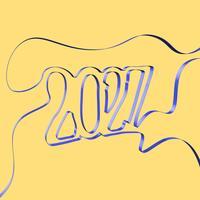 Het abstracte lint vormt een jaar, vectorillustratie