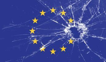 De ster van Groot-Brittannië van EU-vlag wordt geschoten, vectorillustratie die
