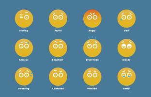 Eenvoudige emoticons voor web, vector