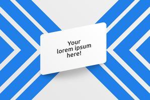 Schoon sjabloon voor reclame met blauwe pijlen, vectorillustratie