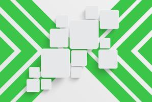 Schoon sjabloon voor reclame met groene pijlen, vectorillustratie