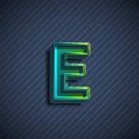 Glazig 3D doopvontkarakter, vectorillustratie