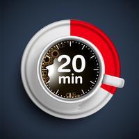 Realistische koffie tijd illustratie, vector