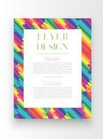 Kleurrijk malplaatje / afficheontwerp, vector