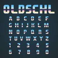 OLDSCHL retro lettertype ingesteld, vector