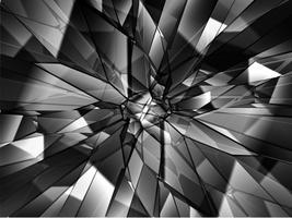 Gebroken glasachtergrond, vector
