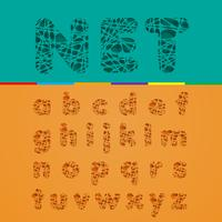 Knipsel fontset, vector