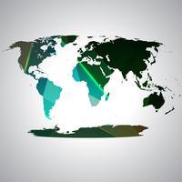 Kleurrijke wereldkaart, vector