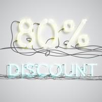 Percentage korting, vectorillustratie vector