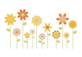 Gestileerde Bloemen Vector Pack Twee