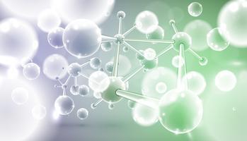 Kleurrijke moleculen, vectorillustratie