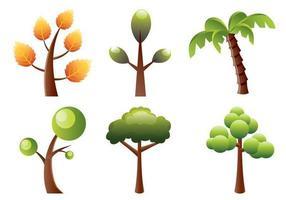 Gestileerde Bomen Vector Pack