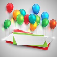 Kleur glanzende ballonnen lift etiketten, vector