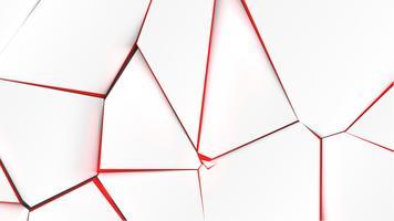 Gebroken oppervlak met rode kleur aan de binnenkant, vectorillustratie