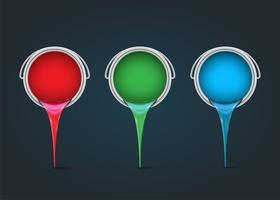 RGB realistische blikjes, vector