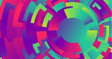 De kleurrijke achtergrond van neoncirkels, vector