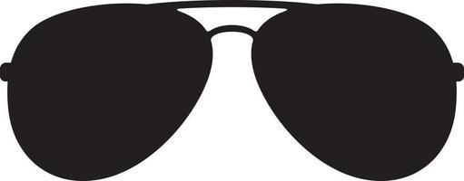 zwarte pilotenzonnebril vector