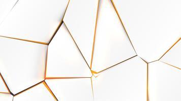 Gebroken oppervlak met oranje kleur aan de binnenkant, vectorillustratie