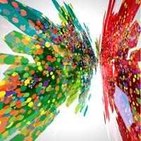 Abstracte ackground met patroon, vector
