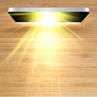 Realistische vector pc vanaf de top met licht, vector