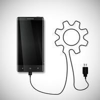 Mobiele telefoon met USB-aansluiting