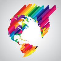 Kleurrijk abstract wereldsymbool vector