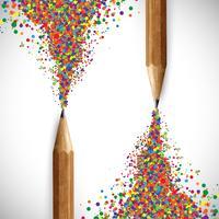 Kleurrijk potlood, vector