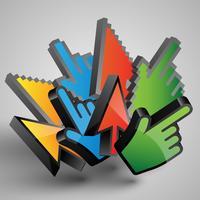 Vector kleurrijke cursors