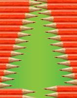 Kerstboom gemaakt door rode potloden, vector