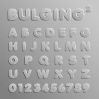 Realistische 3D-lettertype, vector