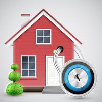 Veiligheid van het huis, vector