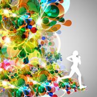 Kleurrijke runner vectorillustratie