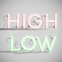 Neon elektrisch woordtype, vectorillustratie