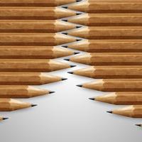 Realistische houten potloden, vector