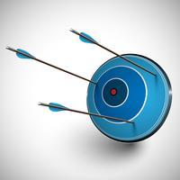 Pijl en een dartboard, vector