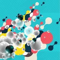 Kleurrijke achtergrond voor reclame, vector
