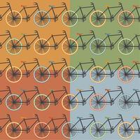 Oldschool stijl fiets vector illustratie
