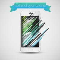 Kleurrijke cellphoneillustratie met colorized stegen, vector