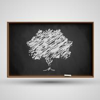Blackboard met een boom, vector