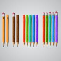 Kleurrijke potloden, vector