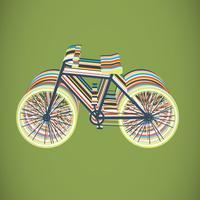 Kleurrijke fiets vlakke illustratie, vector