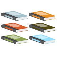 Kleurrijke boeken, vector