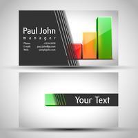Abstract visitekaartje voor- en achterkant ontwerp