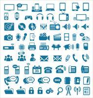 Media- en communicatiepictogrammen vector