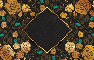 vintage achtergrond met zwarte en gouden kleur vector