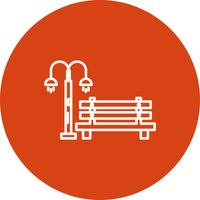 Vector Bench pictogram