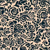 Abstract naadloos kantpatroon met bloemen. vector