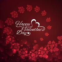 Moderne Happy Valentine's dag achtergrond vector
